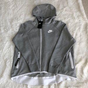 Nike women's grey tech fleece sweatshirt